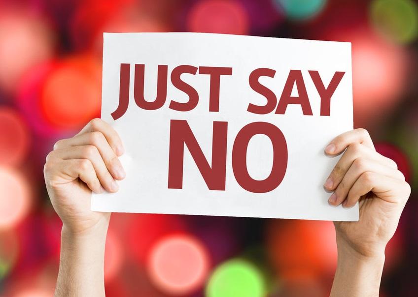 Just Say No sign